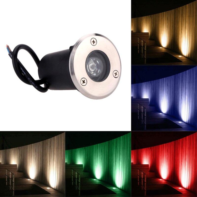 La mejor iluminación enterrada a prueba de agua 110V 220V 230V 1W 3W luces LED empotradas para exteriores lámpara empotrada para estanque, piscina, iluminación subterránea