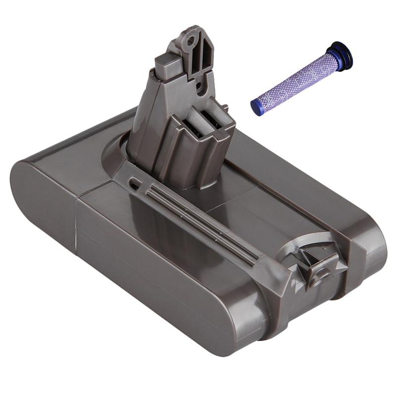 Novo adicionar filtro v6 21.6v 3000mah li-ion bateria para dyson v6 bateria para dc58 dc59 dc61 dc62 aspirador sv09 sv07 sv03 sv04