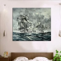 modern abstract oil painting on canvas huge wall art ships on the sea ch 12 free shipping home decor