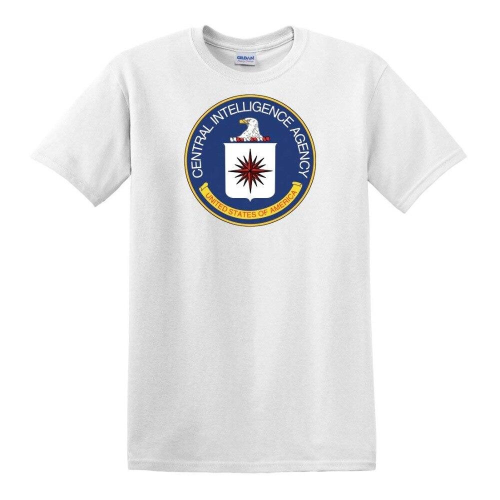 La Agencia Central de Inteligencia de los hombres, camiseta foca 2019, camiseta de Hip Hop para hombres, camiseta de manga corta 100% de algodón para hombres