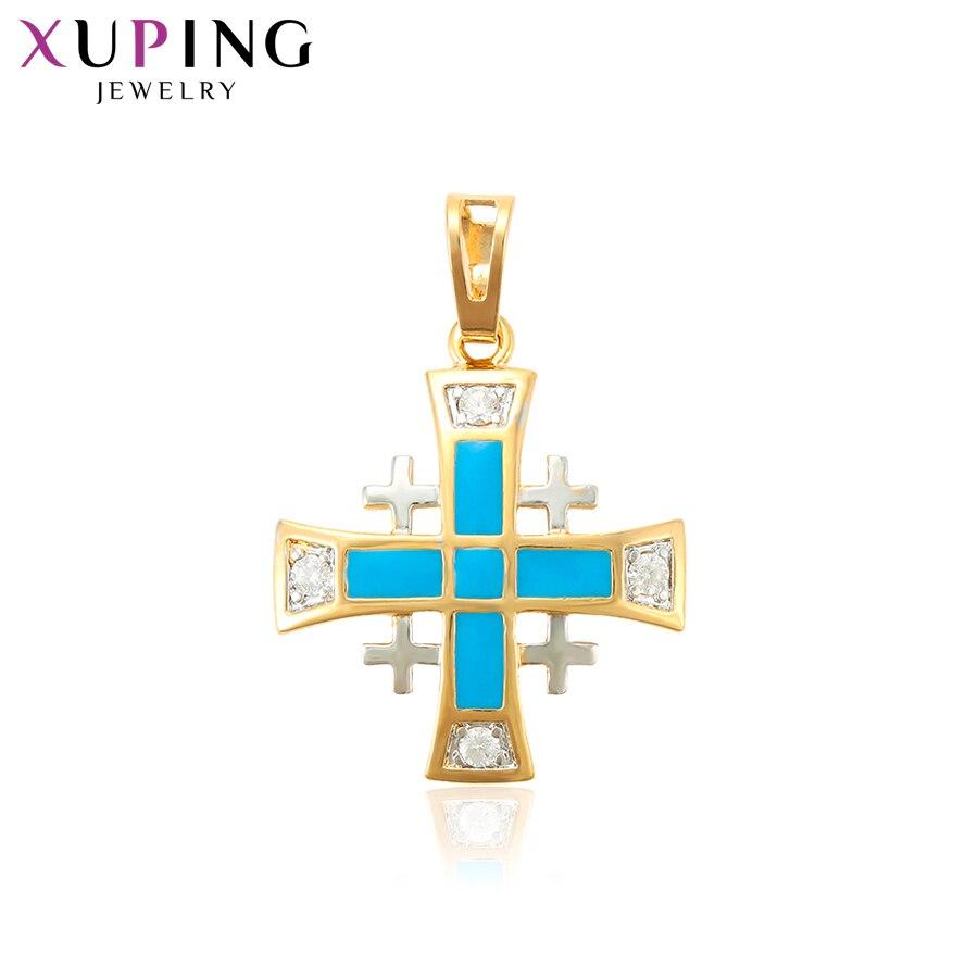Женское Ожерелье Xuping, подвеска в виде крестиков, рождественский подарок, S77,3-33336