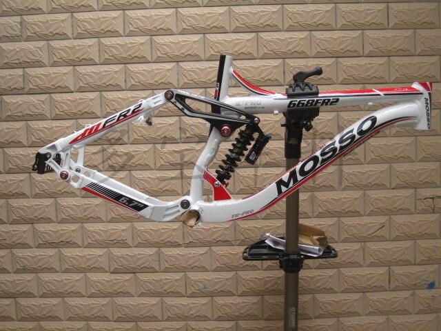 Mosso 668fr2 26 polegada de alumínio mountain bike quadro suspensão total montanha downhill quadro suspensão dnm amortecedor