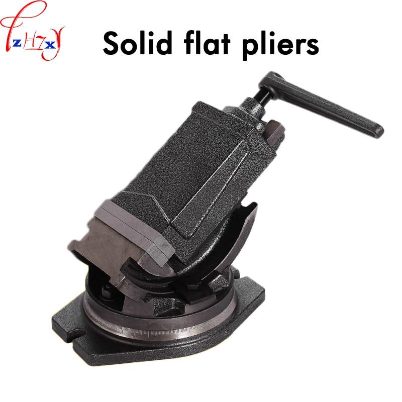 Pinzas planas sólidas de ángulo inclinable de 4 pulgadas tornillo de banco cónico de precisión giratorio de 360 grados pinzas planas de alta calidad de precisión