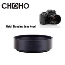 Metal Standard Lens Hood 49mm 52mm 58mm 55mm 62mm 67mm 72mm 77mm 82mm Screw-in Tubular Lente Protect For Canon Nikon Sony