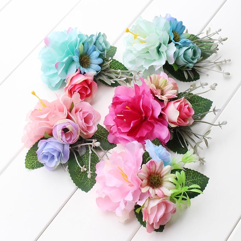 AliExpress - multi color Hair Clip in Women's Hair Accessories Hairpins Female Girls Pony Floral Headwear  wedding  Woman Hair Ornament