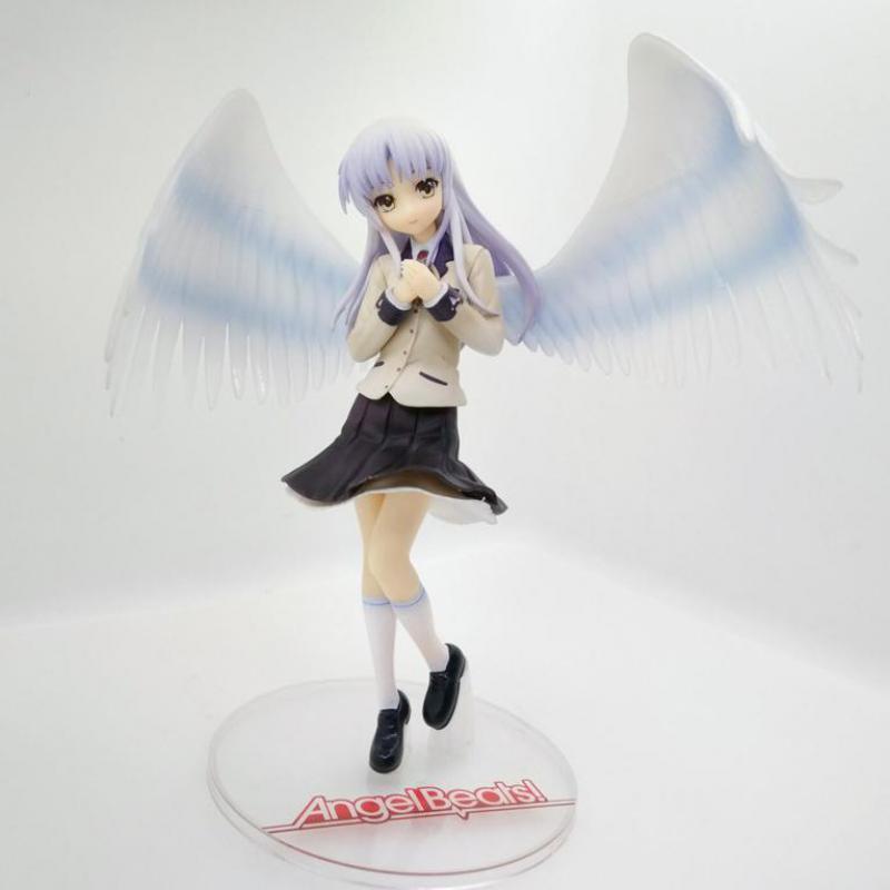 Uniformes Tachibana Kanade, figuras de juguete de acción de animé japonés de Angel Beats, colección de modelos de Pvc para regalo de Navidad