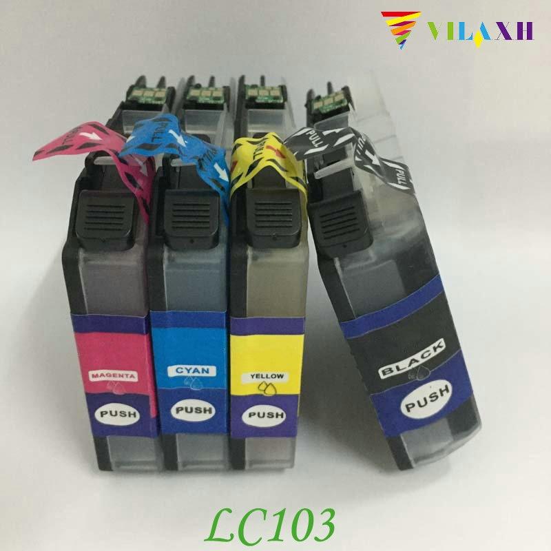 Vilaxh LC103 cartucho de tinta para Hermano DCP-J152W MFC-J245 MFC-J285DW MFC-J450DW MFC-J470DW MFC-J475DW impresora