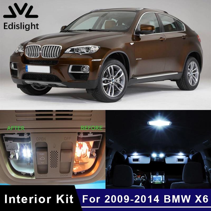 Edislight, 22 Uds., Kit de bombillas LED para coche Canbus sin Error, de paquete de interiores para BMW X6 E71 de 2009 a 2014, luz para mapas, domo, placa de puerta