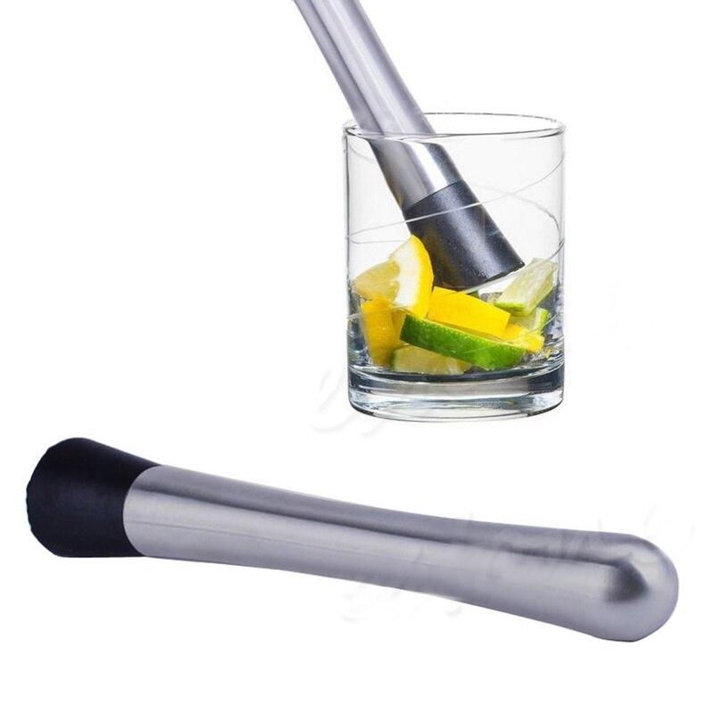 1 ud. De herramientas para mezclar bebidas DIY, accesorios para bares, triturador de limón cítrico multiusos, palitos de acero inoxidable, utensilios geniales