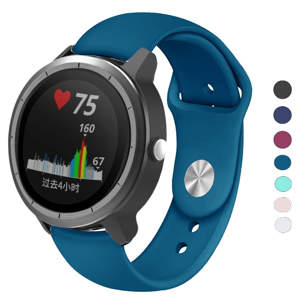 Correa de reloj de silicona de 20mm para Garmin Vivoactive 3/Forerunner 645/245/245 M, pulsera para Galaxy Watch Active 2/42mm