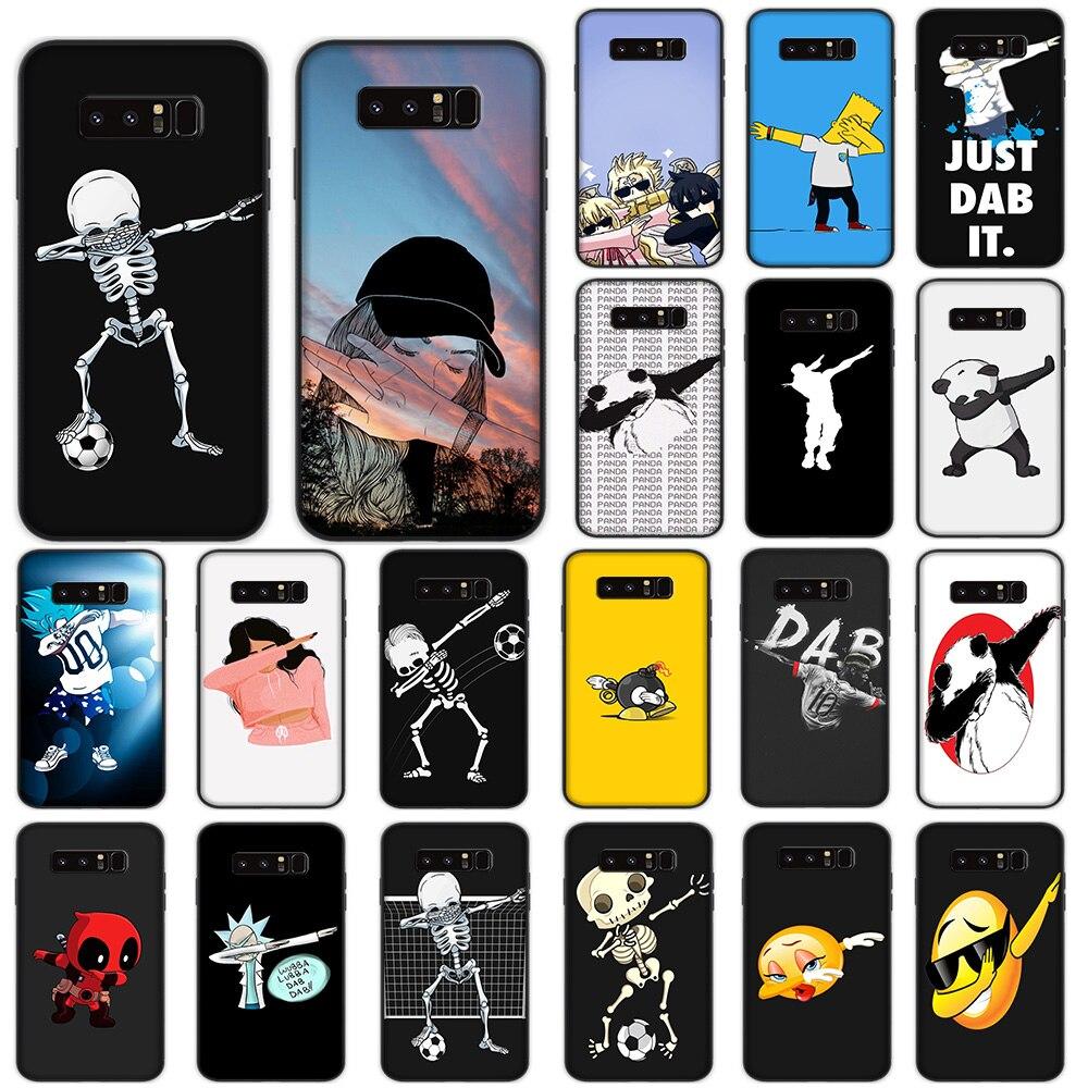 Funda suave Dab Dance Panda de dibujos animados para Samsung Galaxy Note 8 9 10 Plus M10 M20 M30 A10s A20s A30s A40s A50s