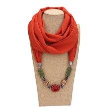 Collier écharpe à pampilles en soie   voile de mode, écharpe perlée, foulard en coton pour femmes, livraison gratuite