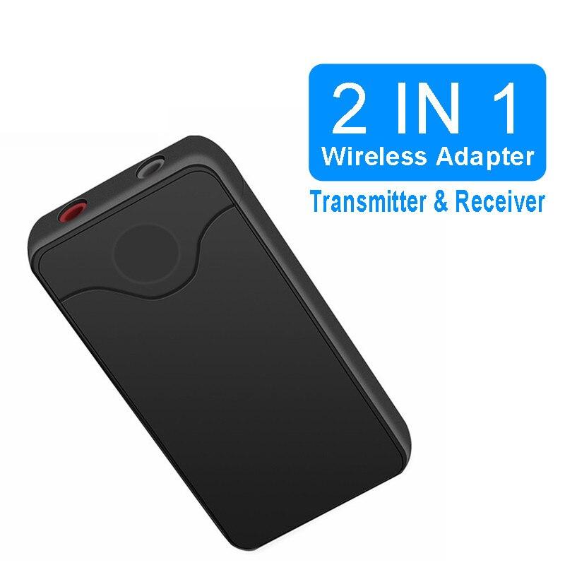 Transmisor receptor Bluetooth VIKEFON 4,2, receptor de Audio inalámbrico Bluetooth, adaptador auxiliar para coche de 3,5mm para auriculares y altavoces de TV para coche