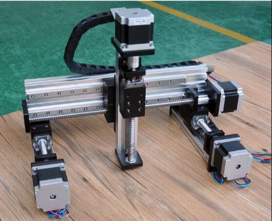 وحدة خطية صناعية مناورة 100 مللي متر بشوط توجيه خطي NC محور Xz ثلاثي المحاور برغي كهربائي منزلق