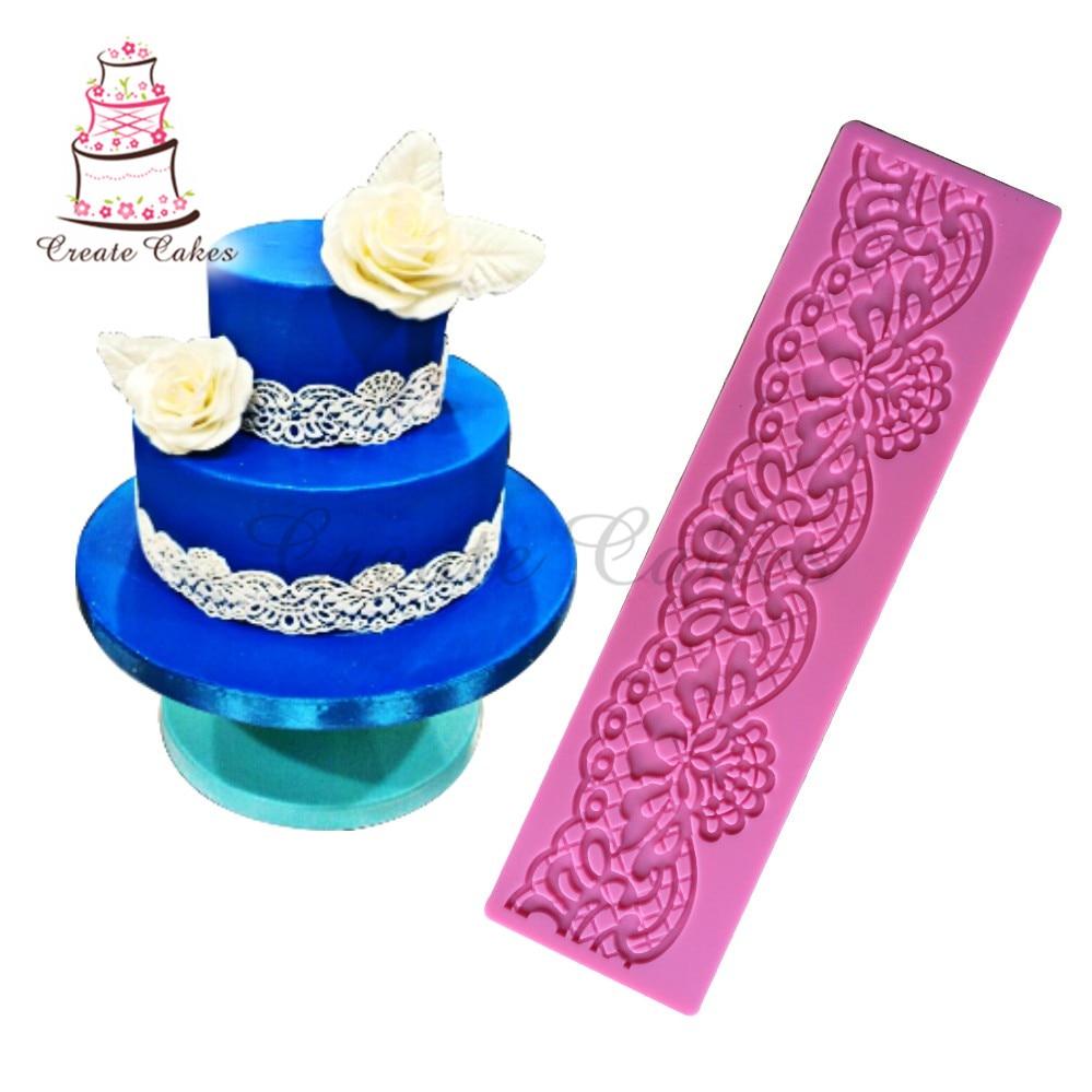 AliExpress - Flower Shape Lace Mat Border Decoration Lace Mold Silicone Sugar Lace Pad Fondant Cake Decorating Tools Baking Tools