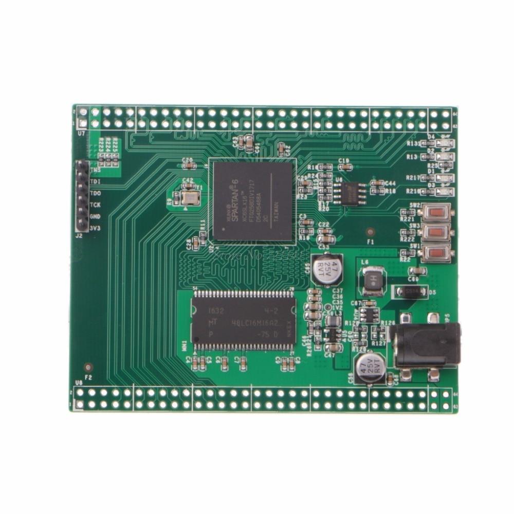 Xc6slx16 spartan 6 xilinx fpga placa de desenvolvimento com 32 mb micro sdram memória circuitos integrados dropship
