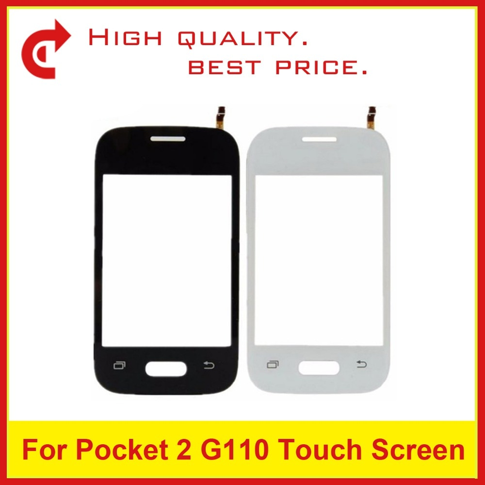 "3,2 ""para Samsung Galaxy DUOS Pocket 2 SM-G110H G110B G110 Sensor de digitalizador Panel de lente de pantalla táctil de vidrio exterior + trackingCode"