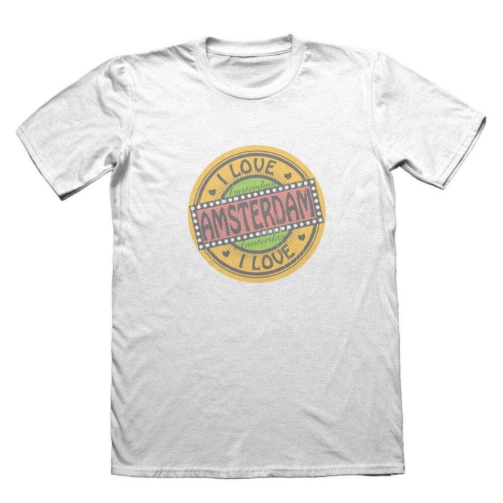 Camiseta de verano 2019 con cuello redondo, camiseta de diseño de Amsterdam,...