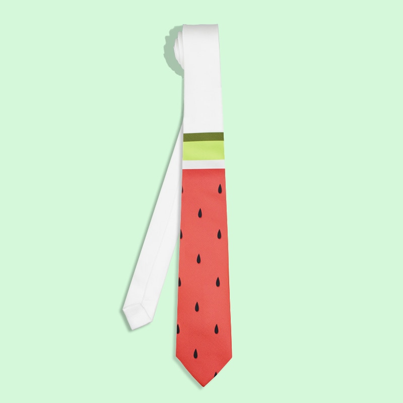 Free shipping New fashion men male Personality Unique Fashion Tie British Fan Groom Dress Up Casual printed neck Tie Watermelon