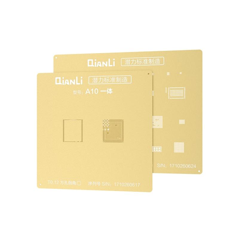 QIANLI Golden 2D para iPhone 5 y 5s de malla de acero 6 6P 7 7P 8 PLUS NAND IC CPU Reparación de plantilla de plantación de estaño RED DE ACERO INOXIDABLE