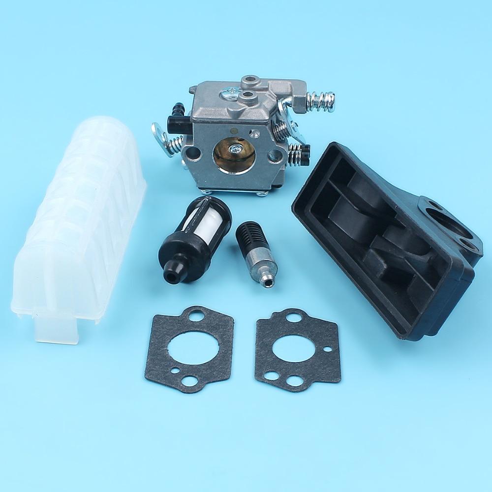 Filtro de aceite de combustible de aire carburador w/2 piezas Kit de juntas de carburador para Stihl 021 023 025 ms210 ms230 ms250 motosierra repuestos
