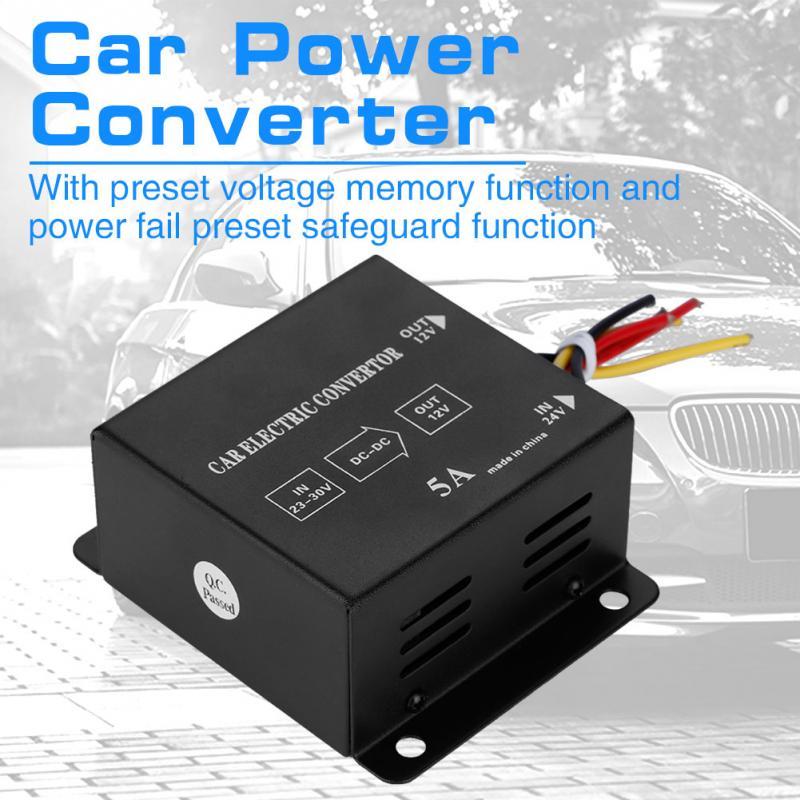 Coche camión 24V DC a 12V convertidor de potencia voltaje del inversor eléctrico reductor transformador de reducción estilo de coche