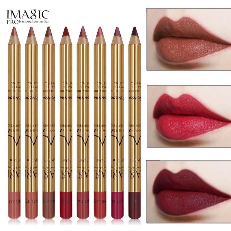 Профессиональный карандаш для губ, водостойкая многофункциональная подводка для губ и бровей, новый 8 видов цветов