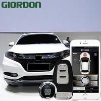 Vezel 18 car accessories Keyless Entry Comfort System PKE Phone APP Remote Start Car Engine Car Alarm Push 913