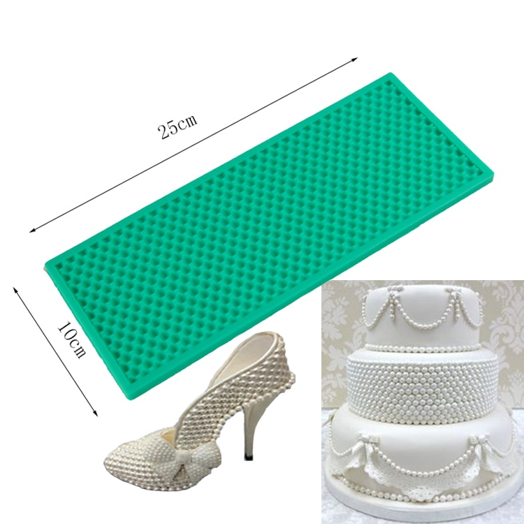 Luyou de tarta de silicona DIY molde de encaje alfombra de perlas utensilios para decoración de tortas con Fondant en relieve frontera Mat molde Fondant molde de FM1184