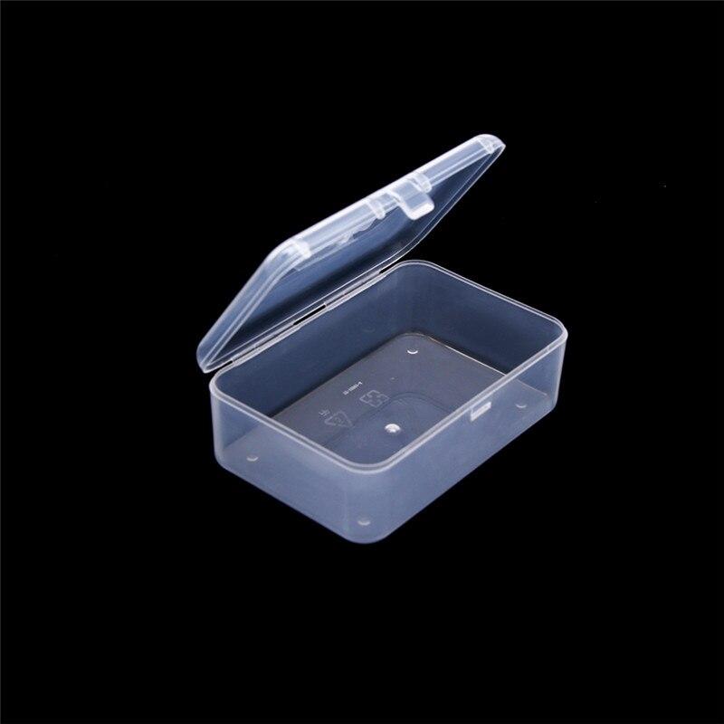 1 Uds transparente de alta calidad caja de almacenamiento de plástico cuadrado claro funda expositora multiuso de almacenamiento superior organizador envío gratis