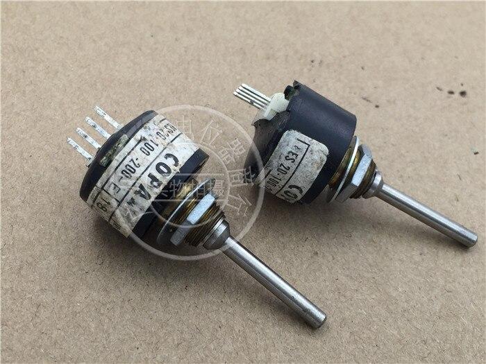 [VK] interruptor de 3MM del eje del codificador óptico de 4 pines de 18UT RES20-100-200-E COPAL usado de Japón