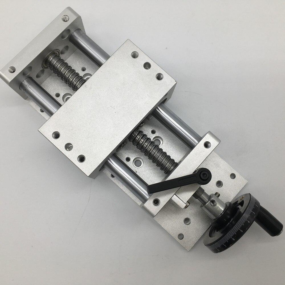 """200MM Mesa Deslizante w/rueda Manual 8 """"Módulo StrokeLinear Slide etapa lineal SFU1605 Ballscrew C7 plataforma de desplazamiento"""