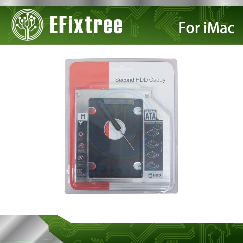 2-й жесткий диск HDD SSD Optical bay Caddy Для iMac 2009 2010 2011 Swap AD-5670S AD-5680H DVD superdrive 12,7 мм