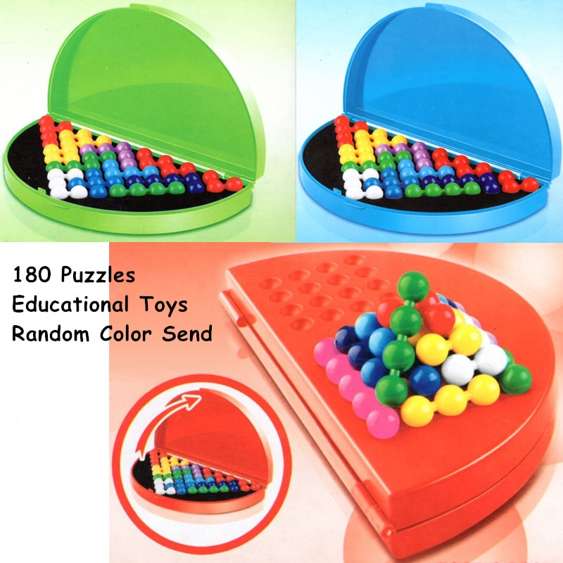 Mini Quebra-cabeças 3d Para Crianças Kids Brinquedos Educativos 180 Jogo de Puzzle 3 Dificuldade Grau Pai-Filho Brinquedo Intelectual Aleatória cor