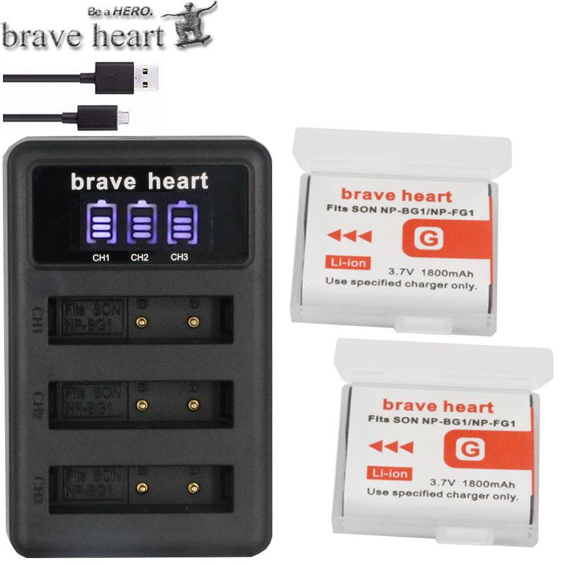 NP-BG1 NP BG1 FG1 NP-FG1 Batterie akku + 3 beaucoup Chargeur pour SONY cyber-shot DSC-H3 DSC-H7 DSC-H9 DSC-H10 DSC-H20 DSC-H50 DSC-H55