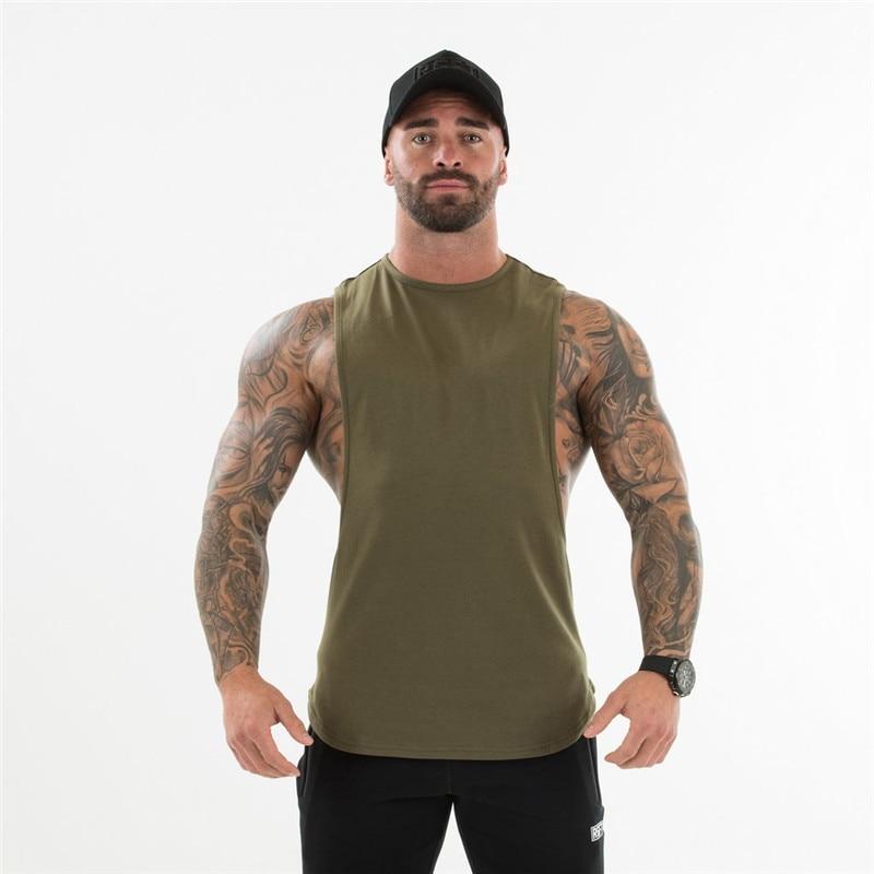 HETUAF nuevo hombre culturismo camiseta sin mangas gimnasios Fitness camiseta nueva masculina ropa de algodón moda camiseta sin mangas