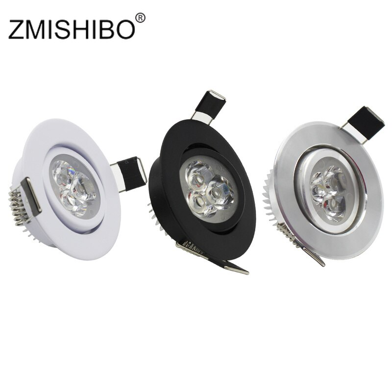 ZMISHIBO-luces LED empotradas para sala de estar, lámpara de 50-55mm, agujero cortado,...