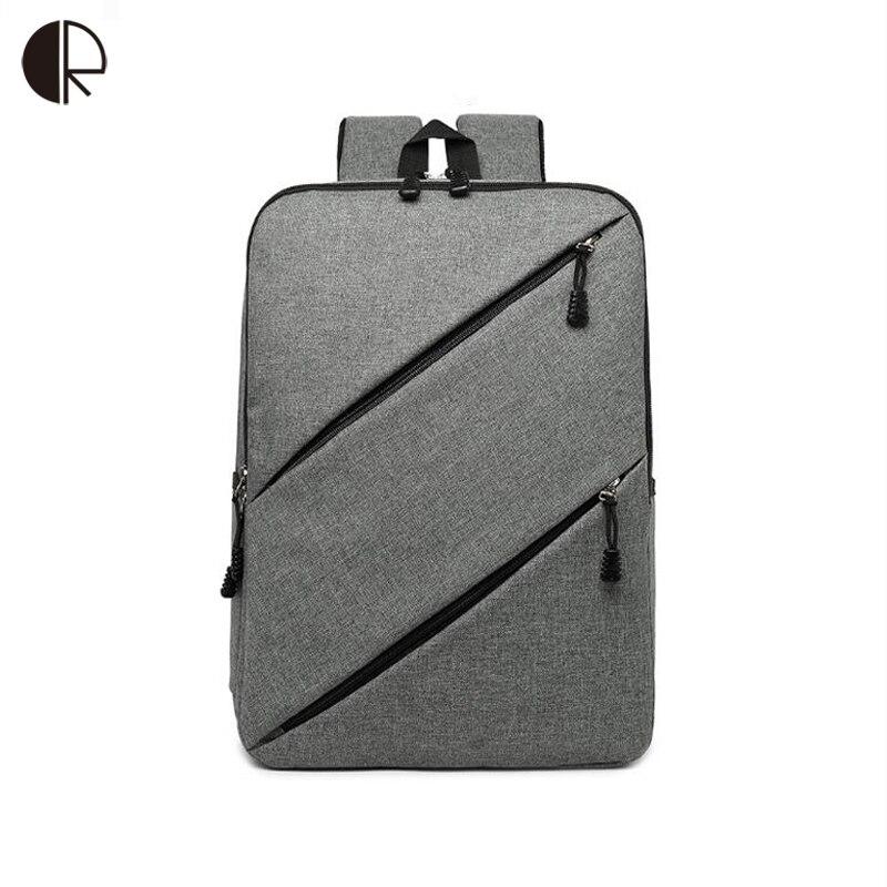 ¡Oferta! bolso Unisex para ordenador portátil, mochilas escolares para adolescentes, mochila de negocios de hombre/mujer, negro/gris, bolsa sólida Simple para estudiantes