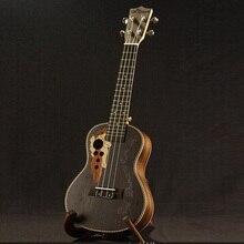 Nouveau complet tout bois de rose ukulélé Concert ukulélé petite guitare 23 noir Hawaii petite guitare Instruments de musique