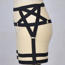 Nouveau femmes Sexy Hraness pentagramme jarretière pastel goth bas jambe jarretière pentagramme Harajuku cinturones mujer mariée jarretière