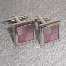 iGame Fashion Enamel Cuff Links Check Design Quality Brass Material Free Shipping