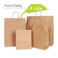 30 Teile/los kraft papier tasche mit griff hochzeit party tasche Modische tuch schuhe geschenk papier taschen 4 größe Multifunktions Großhandel
