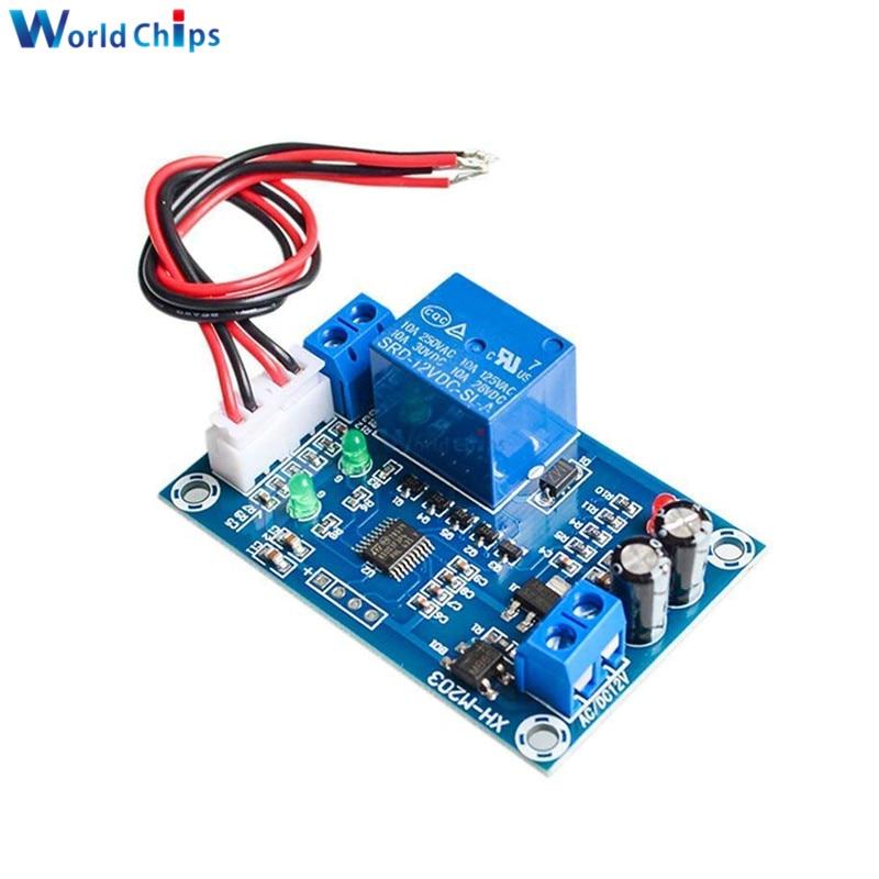 XH-M203 Módulo de interruptor de bomba de controlador de nivel de agua automático completo AC/DC 12V módulo de sensores de relé interruptor de nivel de agua