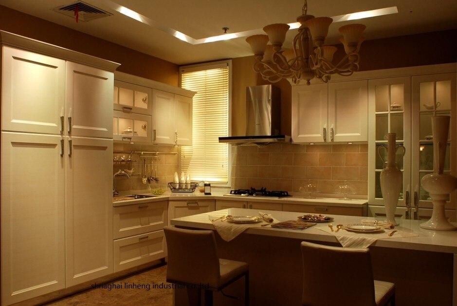 Armario de cocina de PVC/vinilo (LH-PV039)