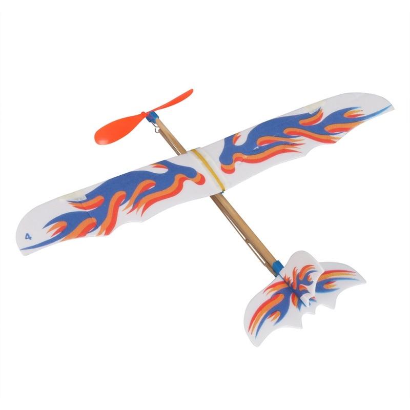 DIY Пластиковый пенопласт эластичный резиновый приведенный в действие летающий самолет набор модель самолета обучающая игрушка лучший пода...