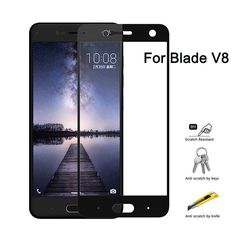 Защитное стекло для ZTE Blade V8 BV0800 полное покрытие защита экрана закаленное стекло для ZTE Blade V8 V0800 5,2 дюйма v 8 9H