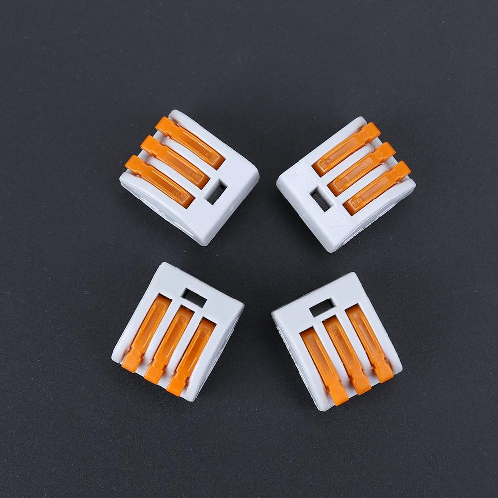 30 unids/lote pct-213 3 Pasadores alambre compacto universal conector bloque de terminales con palanca conector