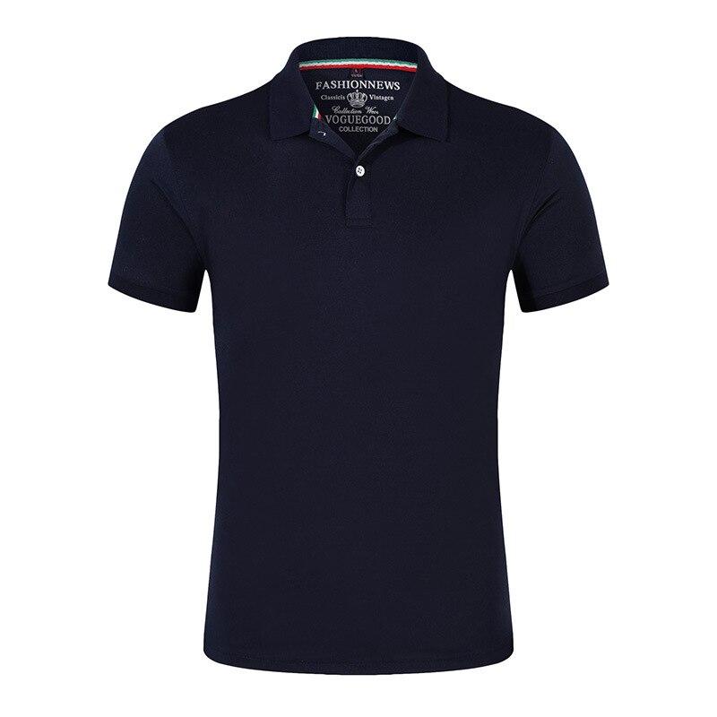 Мужские хлопковые рубашки-поло с коротким рукавом, однотонные летние спортивные черные рубашки для гольфа и тенниса, 2019