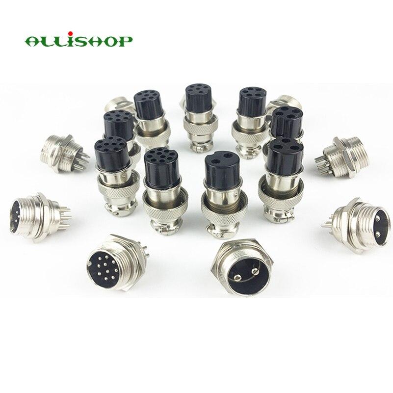 2,3,4,5,6,7,8 zócalos de chasis de 9 Pines se conecta Micrófono Mic Enchufe GX16