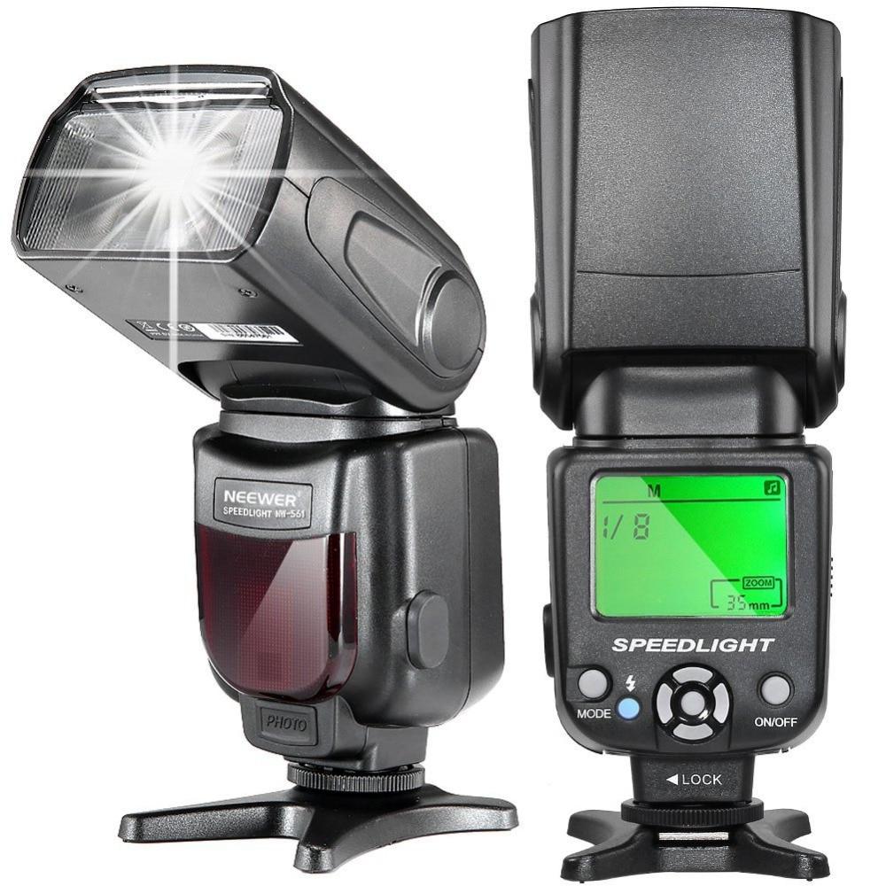 Neewer NW561 ЖК-дисплей Вспышка Speedlite для Canon Nikon Panasonic Olympus Pentax Fijifilm и sony с Mi горячий башмак, DSLR